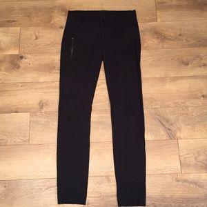 Lululemon black fitted straight moto pants
